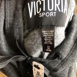 Victoria's Secret Tops - Victoria Sport NWT Logo Grey Zip-Up Jacket Size S